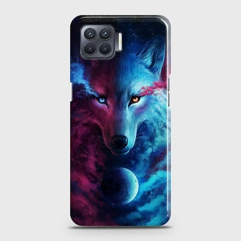 Oppo F17 Cover - Infinity Wolf Trendy Printed Hard Case with Life Time Colors Guarantee