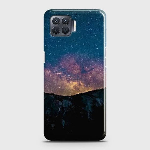 Oppo F17 Cover - Embrace Dark Galaxy  Trendy Printed Hard Case with Life Time Colors Guarantee