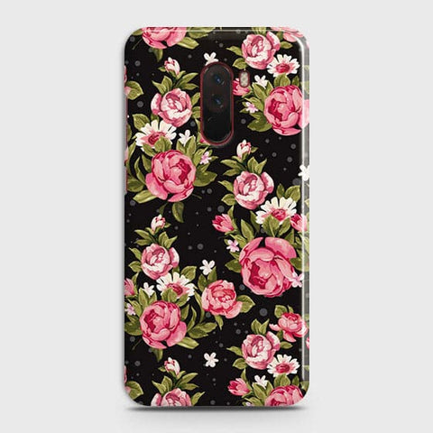 Trendy Pink Rose Vintage Flowers Case For Xiaomi Pocophone F1