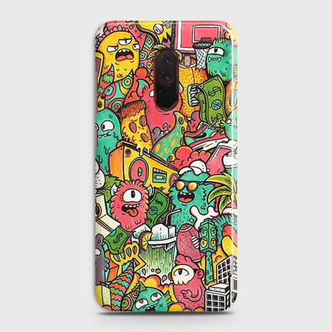 Candy Colors Trendy Sticker Bomb Case For Xiaomi Pocophone F1