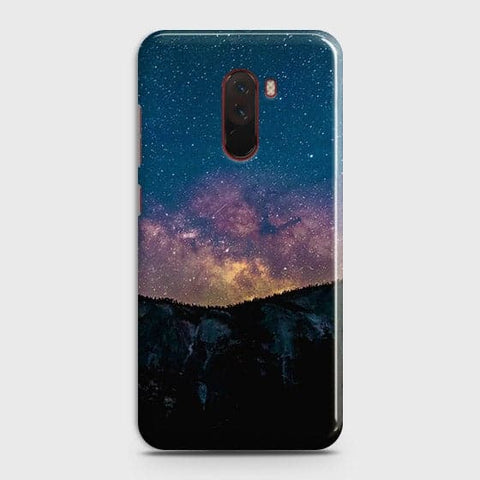 Embrace, Dark Galaxy 3D Trendy Case For Xiaomi Pocophone F1
