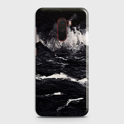 3D Black Ocean Marble Trendy Case For Xiaomi Pocophone F1