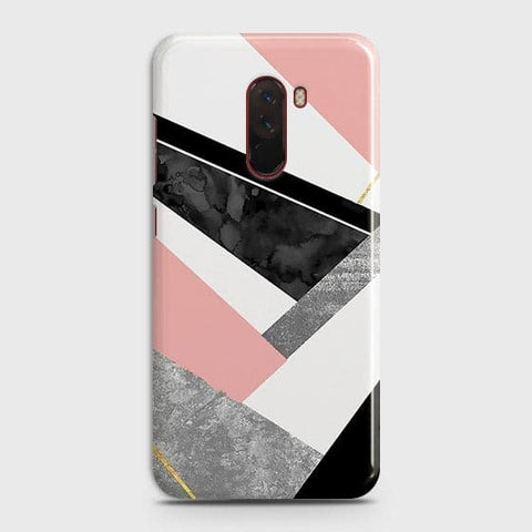 Geometric Luxe Marble Trendy Case For Xiaomi Pocophone F1