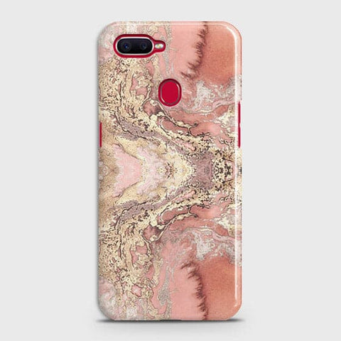 Trendy Chic Rose Gold Marble 3D Case For Realme 2