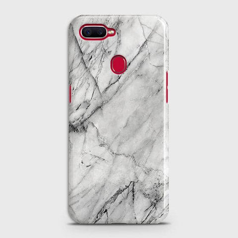 Trendy White Marble Case For Realme 2