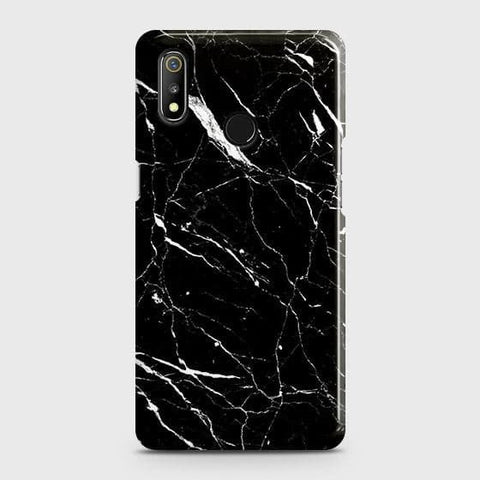 Trendy Black Marble Case For Realme 3