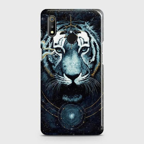 Vintage Galaxy 3D Tiger Case For Realme 3