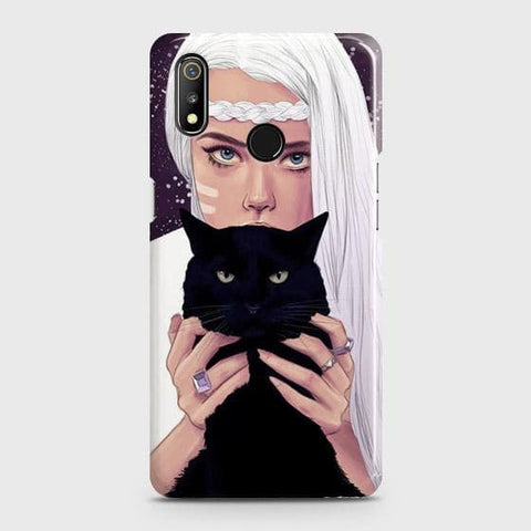 Trendy Wild Black Cat Case For Realme 3