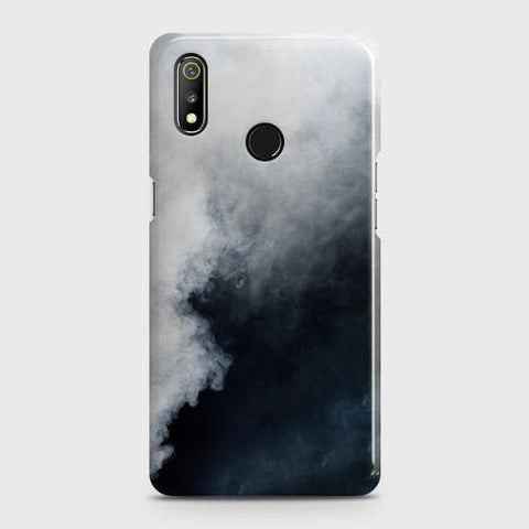Trendy White Floor Marble Case For Realme 3