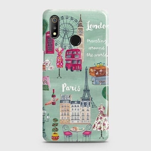 London, Paris, New York Modern Case For Realme 3
