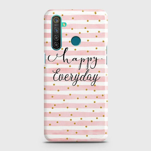 Trendy Happy Everyday Snap On Case For Realme 5 Pro