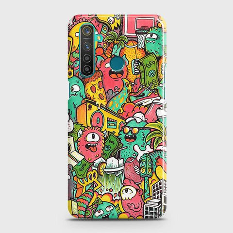 Candy Colors Trendy Sticker Bomb Case For Realme_5s