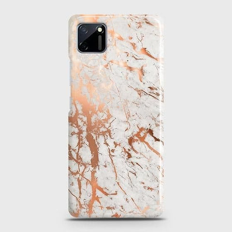 Realme C11 Cover - In Chic Rose Gold Chrome Style Printed Hard Case with Life Time Colors Guarantee