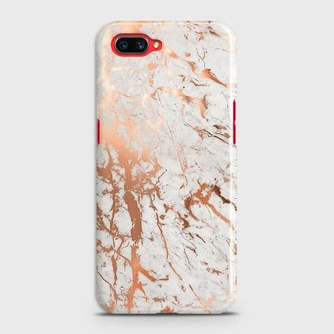 Realme C1 Cover - In Chic Rose Gold Chrome Style Printed Hard Case with Life Time Colors Guarantee