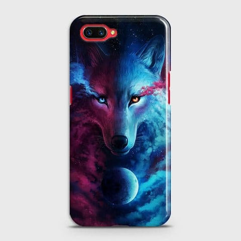 Realme C1 Cover - Infinity Wolf Trendy Printed Hard Case with Life Time Colors Guarantee