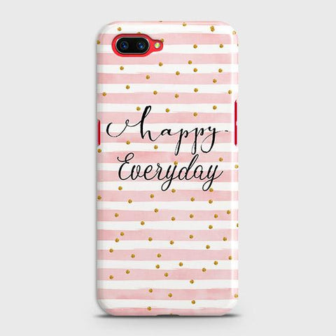 Realme C1 Cover - Trendy Happy Everyday Printed Hard Case with Life Time Colors Guarantee