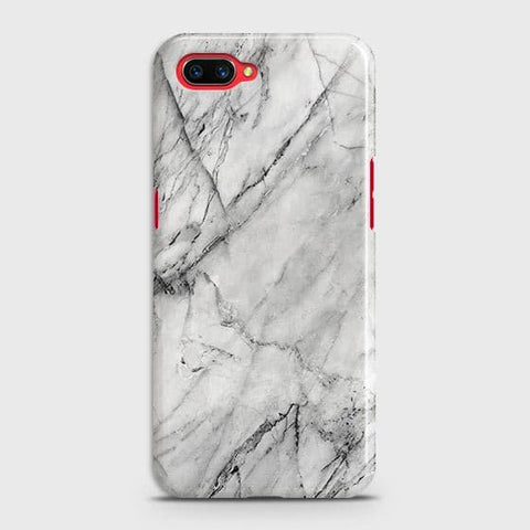 Realme C1 Cover - Trendy White Floor Marble Printed Hard Case with Life Time Colors Guarantee