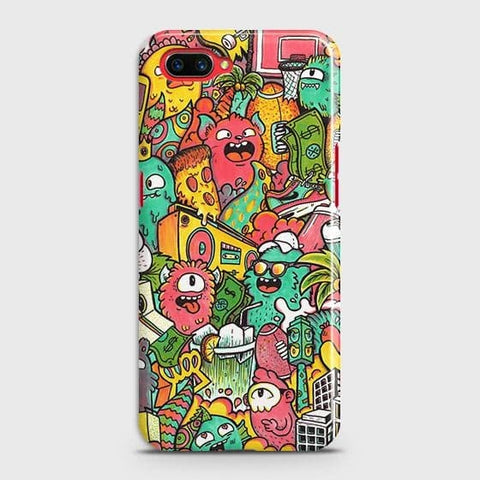Candy Colors Trendy Sticker Bomb Case For Realme C1