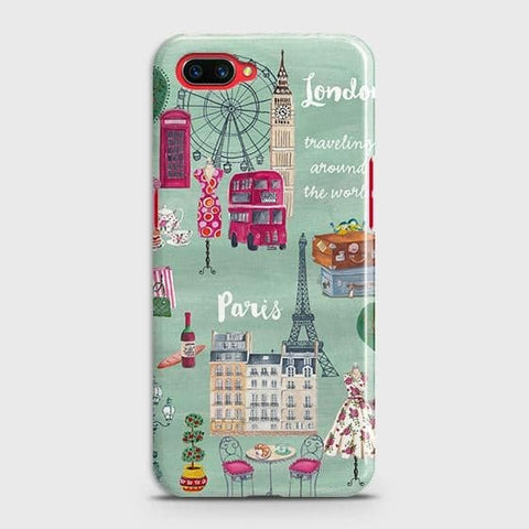 Realme C1 Cover - London, Paris, New York ModernPrinted Hard Case with Life Time Colors Guarantee