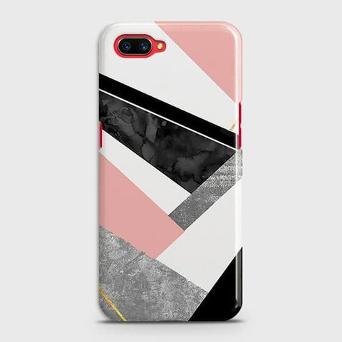 Realme C1 Cover - Geometric Luxe Marble Trendy Printed Hard Case with Life Time Colors Guarantee