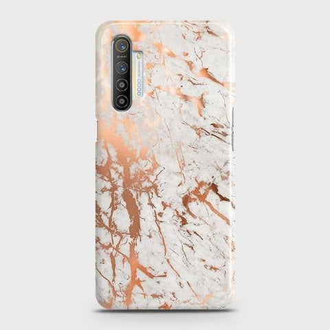 Realme XT Cover - In Chic Rose Gold Chrome Style Printed Hard Case with Life Time Colors Guarantee