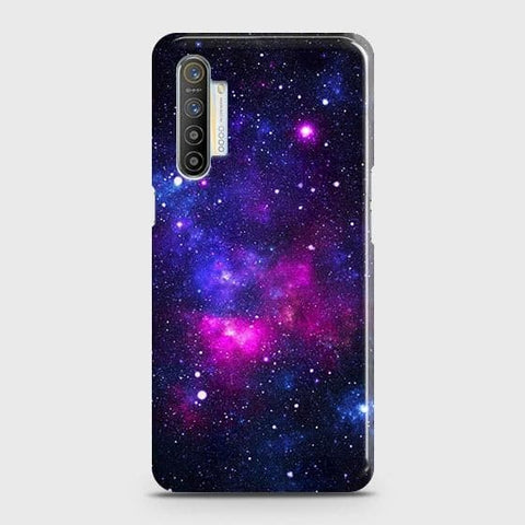 Realme XT Cover - Dark Galaxy Stars Modern Printed Hard Case with Life Time Colors Guarantee