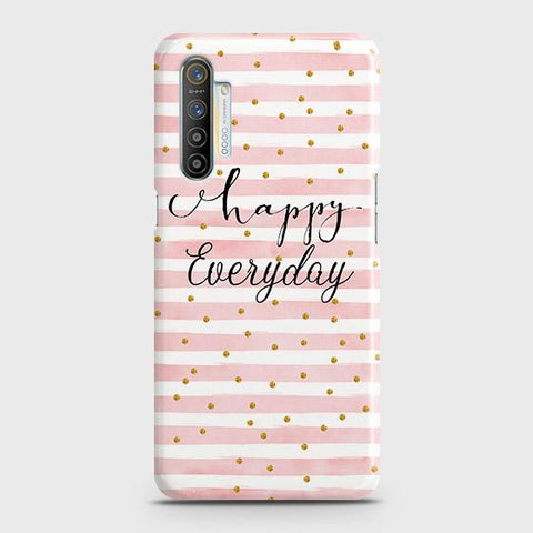 Realme XT Cover - Trendy Happy Everyday Printed Hard Case with Life Time Colors Guarantee