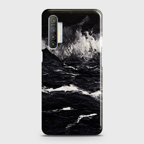 Realme XT Cover - Black Ocean Marble Trendy Printed Hard Case with Life Time Colors Guarantee