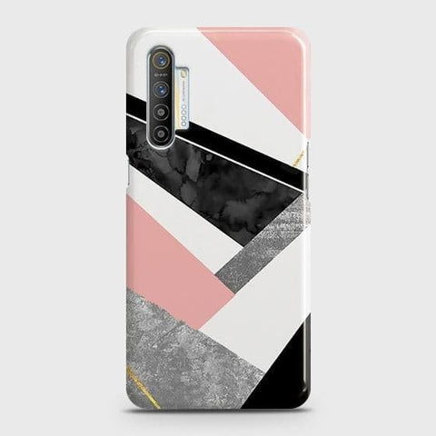 Realme XT Cover - Geometric Luxe Marble Trendy Printed Hard Case with Life Time Colors Guarantee