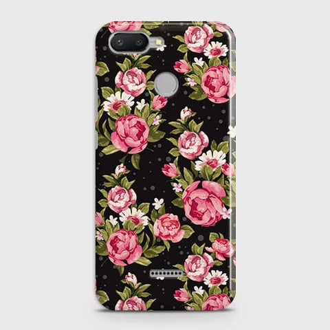 Trendy Pink Rose Vintage Flowers Case For Xiaomi Redmi 6