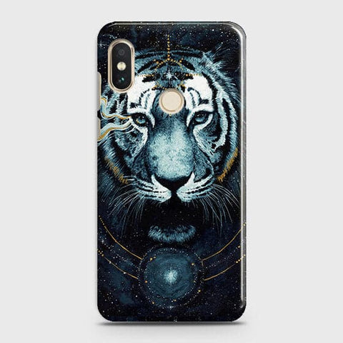 Xiaomi Redmi Note 6 Pro Cover - Vintage Galaxy Tiger Printed Hard Case with Life Time Colors Guarantee