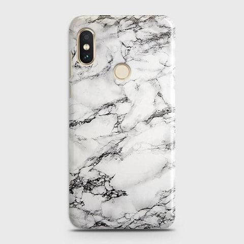Trendy White Floor Marble Case For Xiaomi Redmi Note 6 Pro