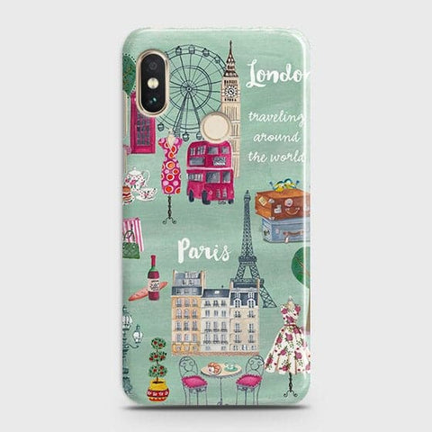 London, Paris, New York Modern Case For Xiaomi Redmi Note 6 Pro