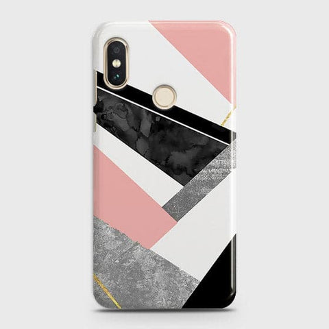 Geometric Luxe Marble Trendy Case For Xiaomi Redmi Note 6 Pro