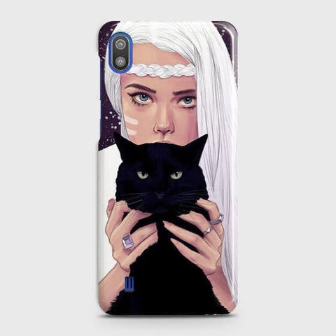 Trendy Wild Black Cat Case For SAMSUNG GALAXY A10