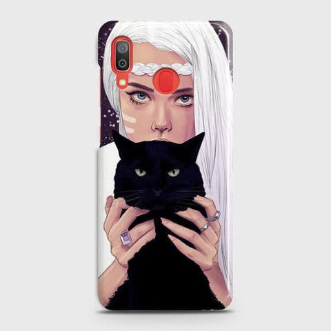 Trendy Wild Black Cat Case For SAMSUNG GALAXY A20