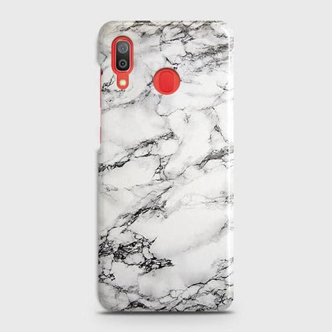 Trendy White Floor Marble Case For SAMSUNG GALAXY A20