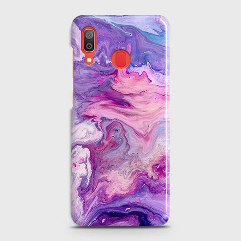 3D Chic Blue Liquid Marble Case For SAMSUNG GALAXY A20