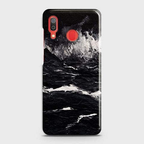 3D Black Ocean Marble Trendy Case For SAMSUNG GALAXY A30