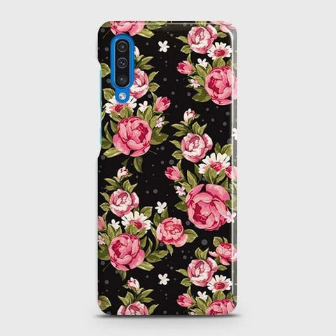 Trendy Pink Rose Vintage Flowers Case For SAMSUNG GALAXY A50