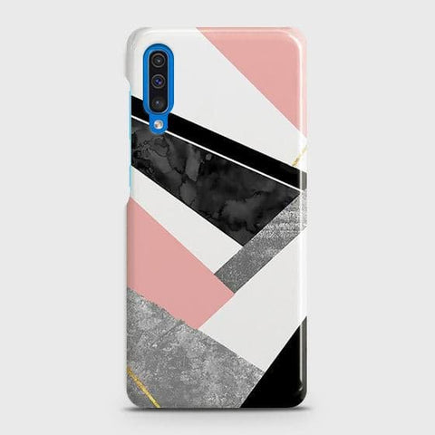 SAMSUNG GALAXY A50 Cover - Geometric Luxe Marble Trendy Printed Hard Case with Life Time Colors Guarantee