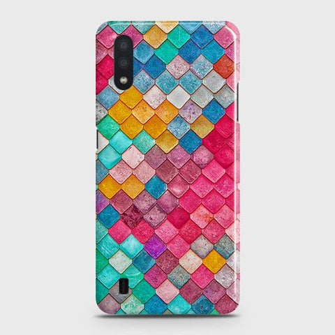 Samsung Galaxy A01Cover - Chic Colorful Mermaid Printed Hard Case with Life Time Colors Guarantee