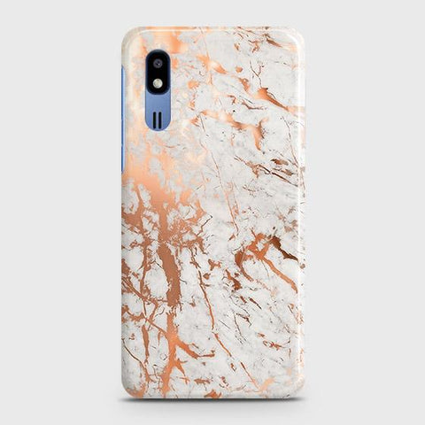 3D Print in Chic Rose Gold Chrome Style Case For Samsung Galaxy A2 Core