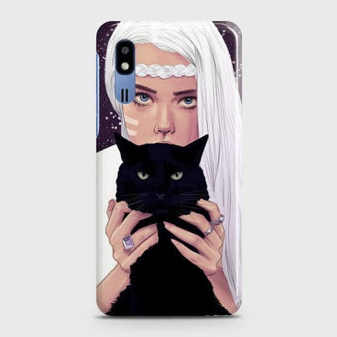 Trendy Wild Black Cat Case For Samsung Galaxy A2 Core
