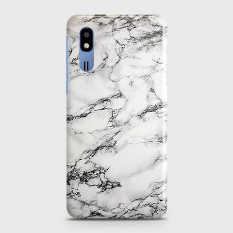 Trendy White Floor Marble Case For Samsung Galaxy A2 Core