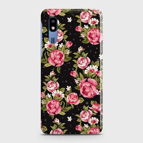 Trendy Pink Rose Vintage Flowers Case For Samsung Galaxy A2 Core