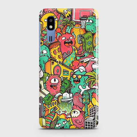 Candy Colors Trendy Sticker Bomb Case For Samsung Galaxy A2 Core