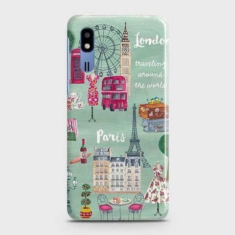 London, Paris, New York Modern Case For Samsung Galaxy A2 Core