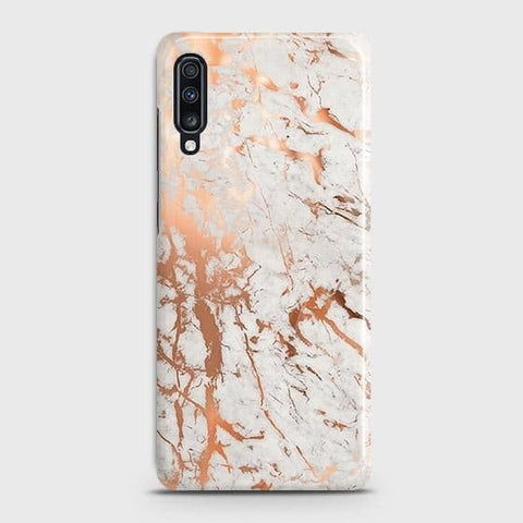 3D Print in Chic Rose Gold Chrome Style Case For Samsung Galaxy A70