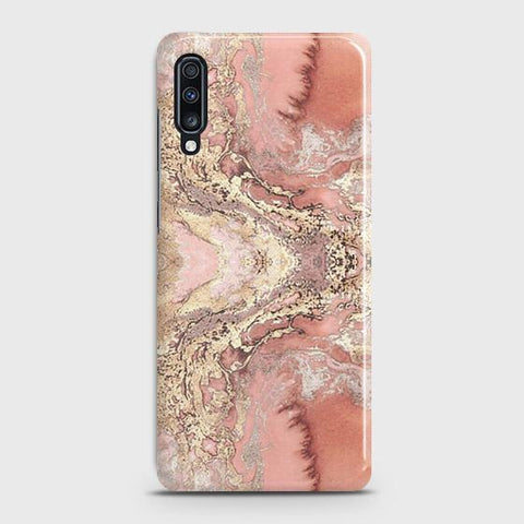 Trendy Chic Rose Gold Marble 3D Case For Samsung Galaxy A70